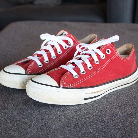 Vintage Converse, Made in USA 1990s, Red